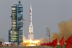 china launches the fifth manned space rocket paving the way to a permanent base in orbit